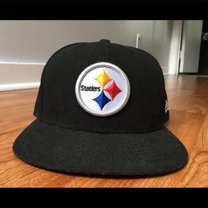 Men's Pittsburgh Steelers New Era Fitted Hat sz 7